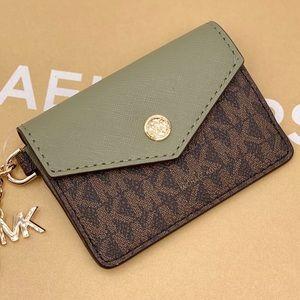 Michael Kors Small Flip Key Ring Card Case wallet